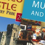 Close up of covers for Monmouthshire Tourism rack leaflets